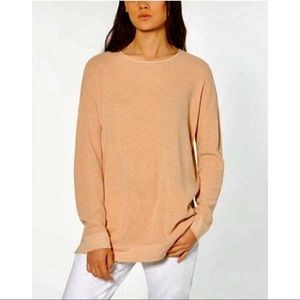 EILEEN FISHER Organic Cotton Waffle-Knit Sweater